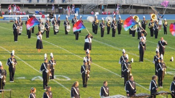 Tamaqua Area Raider Marching Band, TASD Sports Stadium, Tamaqua, 9-18-2015 (6)
