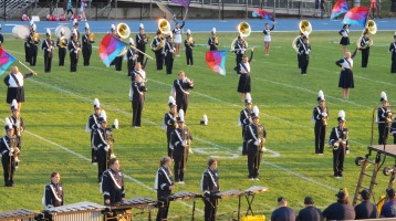 Tamaqua Area Raider Marching Band, TASD Sports Stadium, Tamaqua, 9-18-2015 (7)