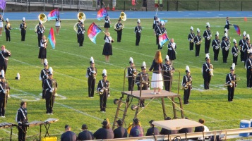 Tamaqua Area Raider Marching Band, TASD Sports Stadium, Tamaqua, 9-18-2015 (8)