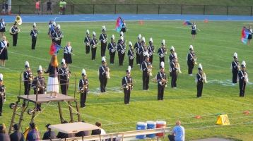 Tamaqua Area Raider Marching Band, TASD Sports Stadium, Tamaqua, 9-18-2015 (9)