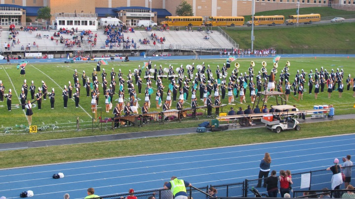 Tamaqua Area Raider Marching Band, TASD Sports Stadium, Tamaqua, 9-18-2015 (97)