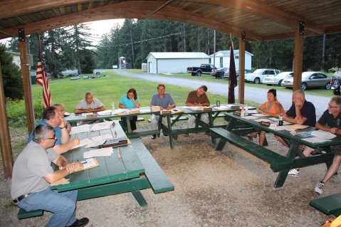 Tamaqua Borough Council Meeting, Lower Owl Creek Dam Pavilion, Tamaqua, 8-18-2015 (1)