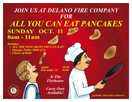 10-11-2015, All You Can Eat Pancakes, Delano Fire Company, Delano