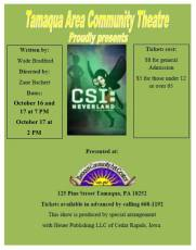 10-16, 17-2015, Performance of CSI Neverland, TACT, Tamaqua Community Arts Center, Tamaqua