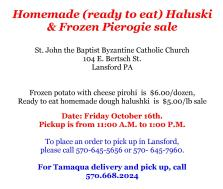 10-16-2015, Homemade Halsukie and Pierogie Sale, St. John the Baptist Byzantine Catholic Church, Lansford-page-001