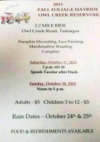 10-17, 18-2015, Fall Foliage Hayride, Owl Creek Reservoir, Tamaqua