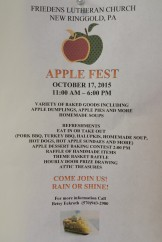 10-17-2015, Apple Fest, Friedens Lutheran Church, New Ringgold