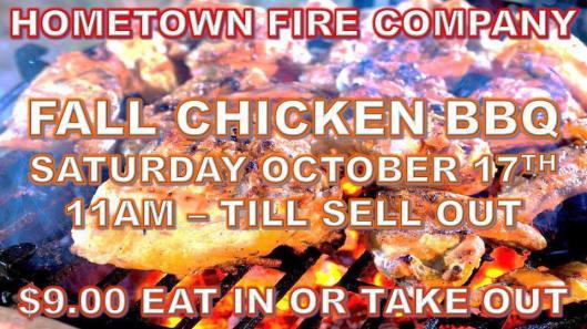 10-17-2015, Fall Chicken BBQ, Hometown Fire Company, Hometown