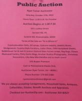10-17-2015, Public Auction, Ryan Turner Auctioneer, Summit Hill
