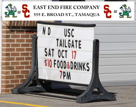 10-17-2015, Tailgate Party, East End Fire Company, Tamaqua