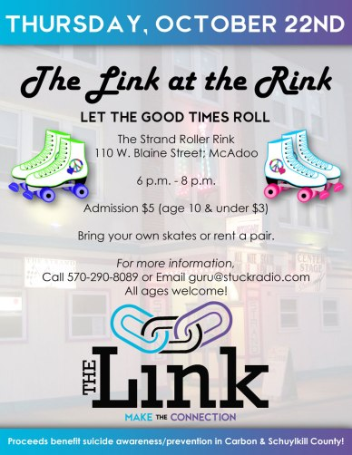 10-22-2015, Roller Skating Benefits The Link, The Roller Rink, McAdoo