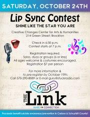 10-24-2015, Lip Sync Contest, Benefits The Link, Creative Changes Center, Brockton