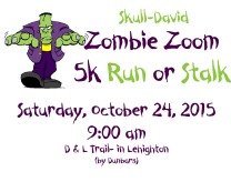 10-24-2015, Skull David Zombie Zoom 5k Run or Stalk, D & L Trail, Lehighton