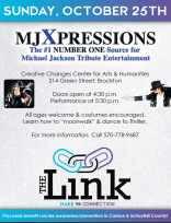10-25-2015, MJXpressions Michael Jackson Tribute, benefits The Link, Creative Changes Center, Brockton