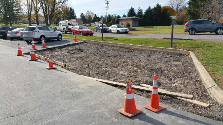 Contractors are also lessoning the slope of handicap parking spots.