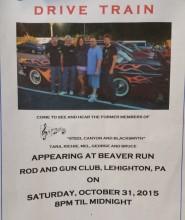 10-31-2015, Drive Train performs, Beaver Run Rod & Gun Club, Lehighton