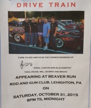 10-31-2015, Drive Train performs, Beaver Run Rod & Gun Club, Lehighton