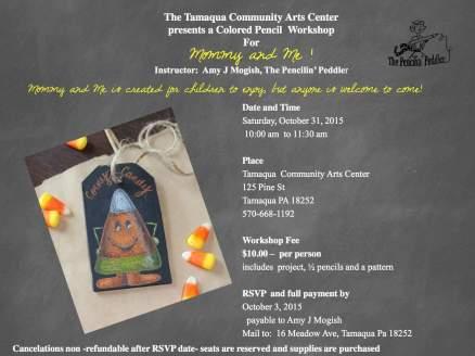10-31-2015, Mommy & Me Colored Pencil Workshop, Tamaqua Community Arts Center, Tamaqua