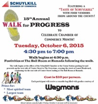 10-6-2015, Walk For Progress, Schuylkill Chamber Conference Center, Union Station, Pottsville