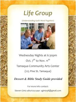 10-7-to-11-11-2015 Wednesdays Life Group Program