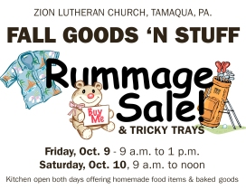 10-9, 10-2015, Fall Goods N Stuff, Zion Lutheran Church, Tamaqua