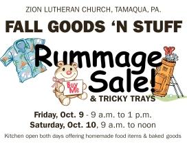 10-9, 10-2015, Fall Goods N Stuff, Zion Lutheran Church, Tamaqua