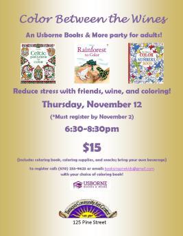 11-12-2015, Color Between The Wines, Tamaqua Community Arts Center, Tamaqua