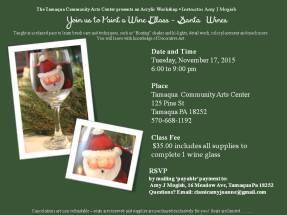 11-17-2015, Acrylic Workshop - Santa 'Wines', Tamaqua Community Arts Center, Tamaqua