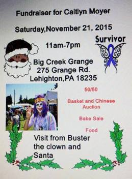 11-21-2015, Benefit Fundraiser for Caitlyn Moyer, Big Creek Grange, Lehighton