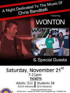 11-21-2015, Wonton performs, Tamaqua Community Arts Center, Tamaqua