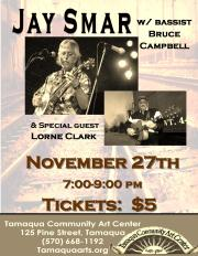 11-27-2015, Jay Smar performs, Tamaqua Community Arts Center, Tamaqua