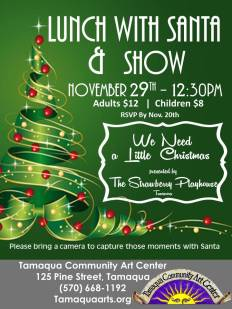 11-29-2015, Lunch With Santa & Show, Tamaqua Community Arts Center, Tamaqua