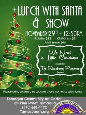 11-29-2015, Lunch With Santa & Show, Tamaqua Community Arts Center, Tamaqua