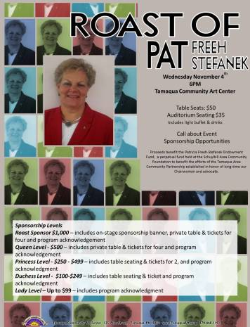 11-4-2015, Roast of Pat Freeh-Stefanek, Tamaqua Community Arts Center, Tamaqua