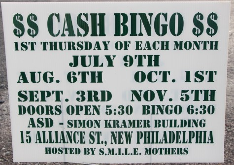 11-5-2015, Cash Bingo, S.M.I.L.E. Mothers, Simon Kramer Building, New Philadelphia