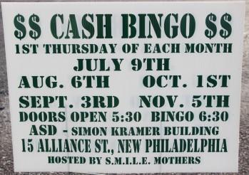 11-5-2015, Cash Bingo, S.M.I.L.E. Mothers, Simon Kramer Building, New Philadelphia