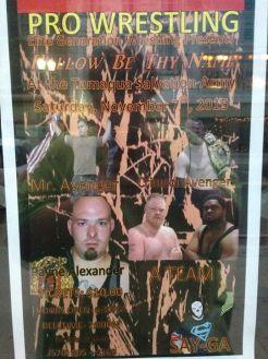 11-7-2015, EGW, Elite Generation Wrestling Show, Tamaqua Salvation Army, Tamaqua
