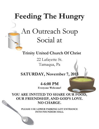 11-7-2015, Soup Social, Trinity United Church of Christ, Tamaqua