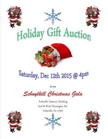 12-12-2015, Holiday Gift Auction, Schuylkill Christmas Gala, Pottsville Masonic Building, Pottsville