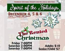 12-4, 5, 6-2015, Performance of The Rented Christmas, Tamaqua Community Arts Center, Tamaqua