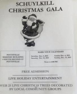 12-5, 6, 12, 13-2015, Schuylkill Christmas Gala, Pottsville Masonic Building, Pottsville