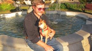 A Reverend and His Dog, Frankie, Depot Square Park, Tamaqua, 9-15-2015 (3)