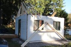 Building a Cabin from Camp Brainerd, Lower Owl Creek Reservoir, Tamaqua, 10-11-2015 (2)