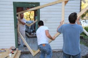 Building a Cabin from Camp Brainerd, Lower Owl Creek Reservoir, Tamaqua, 10-11-2015 (23)
