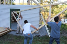 Building a Cabin from Camp Brainerd, Lower Owl Creek Reservoir, Tamaqua, 10-11-2015 (24)