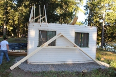 Building a Cabin from Camp Brainerd, Lower Owl Creek Reservoir, Tamaqua, 10-11-2015 (25)