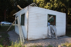 Building a Cabin from Camp Brainerd, Lower Owl Creek Reservoir, Tamaqua, 10-11-2015 (26)