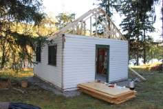 Building a Cabin from Camp Brainerd, Lower Owl Creek Reservoir, Tamaqua, 10-11-2015 (27)