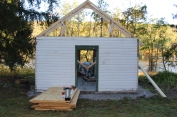 Building a Cabin from Camp Brainerd, Lower Owl Creek Reservoir, Tamaqua, 10-11-2015 (28)