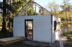 Building a Cabin from Camp Brainerd, Lower Owl Creek Reservoir, Tamaqua, 10-11-2015 (3)